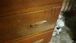 Oak Modern Dresser -Before