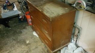 Oak Modern Dresser -Before picture
