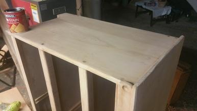 Oak Modern Dresser -Sanded to 220 grit, also removed the trim