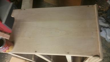 Oak Modern Dresser -Sanded surface to 220 grit