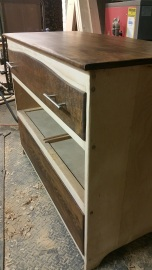 Oak Modern Dresser -Trying out the contrast