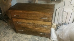 Oak Modern Dresser -Ready for polyurethane