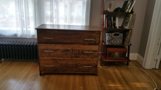 Oak Modern Dresser -Semi gloss poly