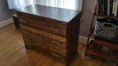 Oak Modern Dresser -Finished with polyurethane