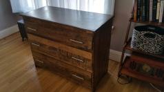 Oak Modern Dresser -Finished with polyurethane