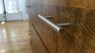 Oak Modern Dresser -New modern hardware